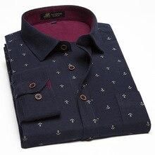 Artı boyutu 9XL 10XL 11XL yeni Model gömlekler baskı erkek fantezi gömlek erkek rahat elbise gömlek erkekler kalınlaşma pamuk gömlekler MCL261