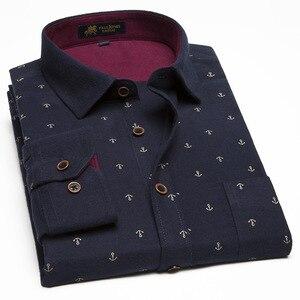 Plus Size 9XL 10XL 11XL New Model Shirts Print Mens Fancy Shirts Male Casual Dress Shirts Men's Thickening Cotton Shirts M463(China)