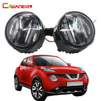 Cawanerl 2 Pieces Car Styling LED Fog Light DRL Daytime Running Lamp For Nissan Juke 2010