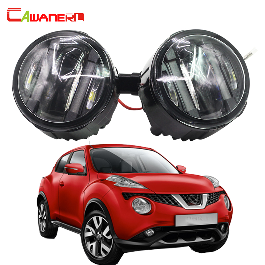 Cawanerl 2 Pieces Car Styling LED Fog Light DRL Daytime Running Lamp For Nissan Juke 2010 Onwards