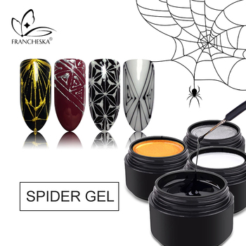 8ml Nail Spider Gel Web Painting Creative Nail Art UV Gel Wire Drawing Elasticity Point Line Soak Off Gel Spider Varnish