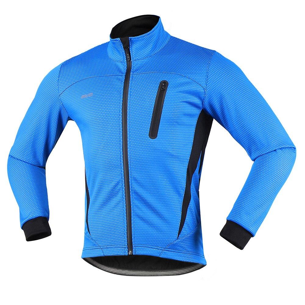 ARSUXEO Thermique Cyclisme Veste D'hiver Chaud Up Polaire Vélo Cycle Vêtements Coupe-Vent Imperméable Sport Manteau VTT Vélo Jersey