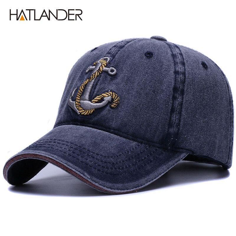 [HATLANDER] marca lavado algodón suave gorra de béisbol para las mujeres hombres vintage sombrero 3d bordado casual al aire libre casquillo de los deportes