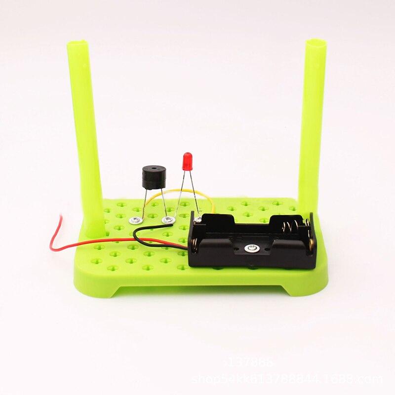 צעצוע מעגל דגם ילדי ילדי אביזרי גילוי תחביבים אלקטרוניקה מדע ערכת ABS DIY באיכות גבוהה סט