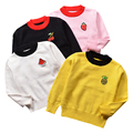 QUIKGROW Infant Baby Sweaters Black&Pink&White&Yellow Fruit Applique Long Sleeve Baby Boy Girl Spring Autumn Pullover YM21MY