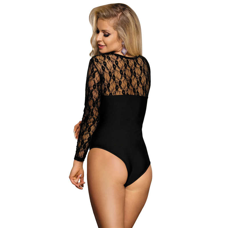 3b8b7e856fd ... Teddy Lingerie Plus Size Long Sleeve Lace Teddy 3XL Sheer Bodysuit New  Arrival Women Sexy Constumes ...