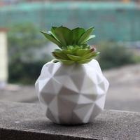 Keramik Diamant Grün Pot Zier Keramik Tabletop Blume Pflanzer Garten Liefert Haushaltswaren Handwerk Dekoration Zubehör