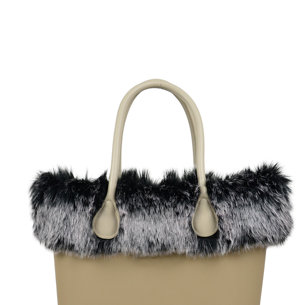 New Dyed Trim Faux Fox Fur White Black Plush Trim for O BAG Thermal Plush  Decoration Fit for Classic Big Mini Obag-in Bag Parts   Accessories from  Luggage ... 87f7cdb2be910