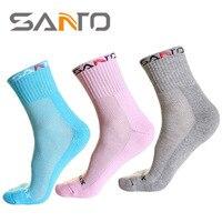 SANTO Shan Half Thick Women S Climbing Socks COOLMAX Speed Dry Socks Outdoor Moisture Absorption Row