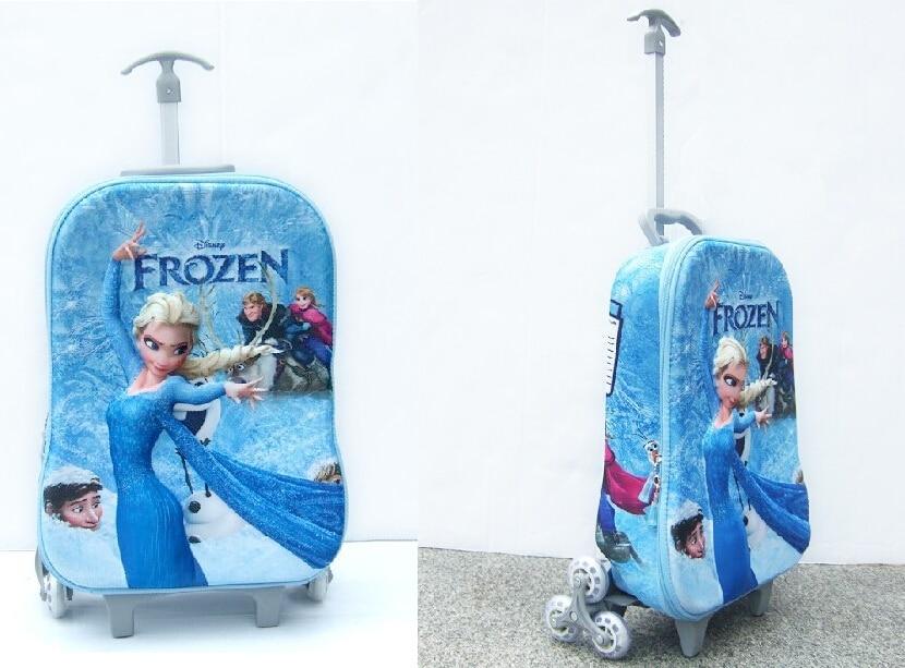 Frozen Wheeled Bag 3 Wheels Kids Trolley School Bags