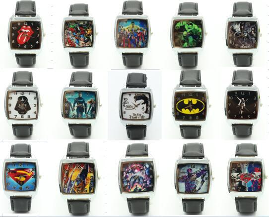 2017 New Fashion mixed style Cartoon Watch Children avengers batman spider man S