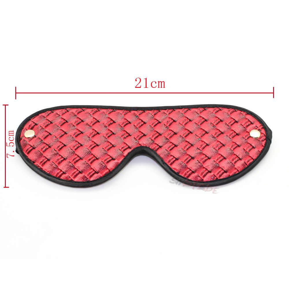 2017 Smspade красный pu бондаж с завязанными глазами секс повязка на глаза для сна смешная повязка на глаза, маска для сна затемненные глаза Фетиш Маска Секс игрушки Бесплатная доставка