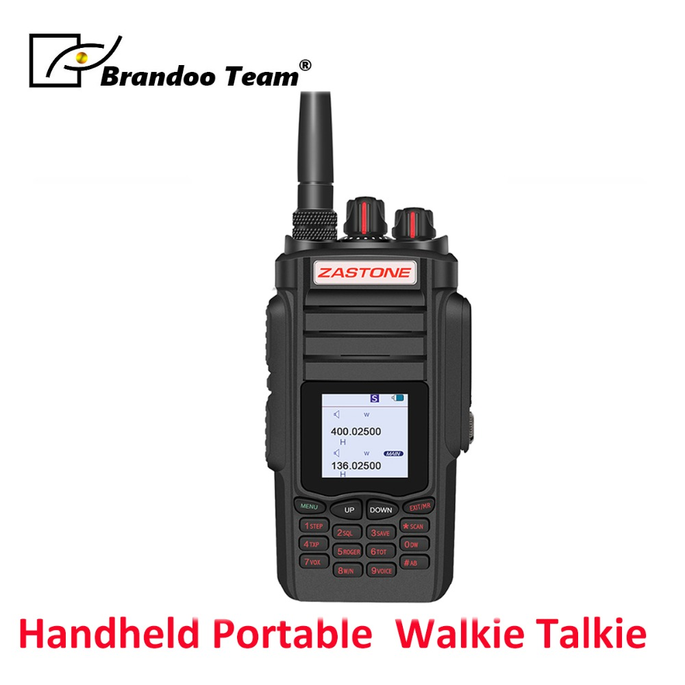 A19 Walkie Talkie 10W CB Backlit Keyboard Radio Transceiver VHF&UHF Handheld Hunting Ham Radio