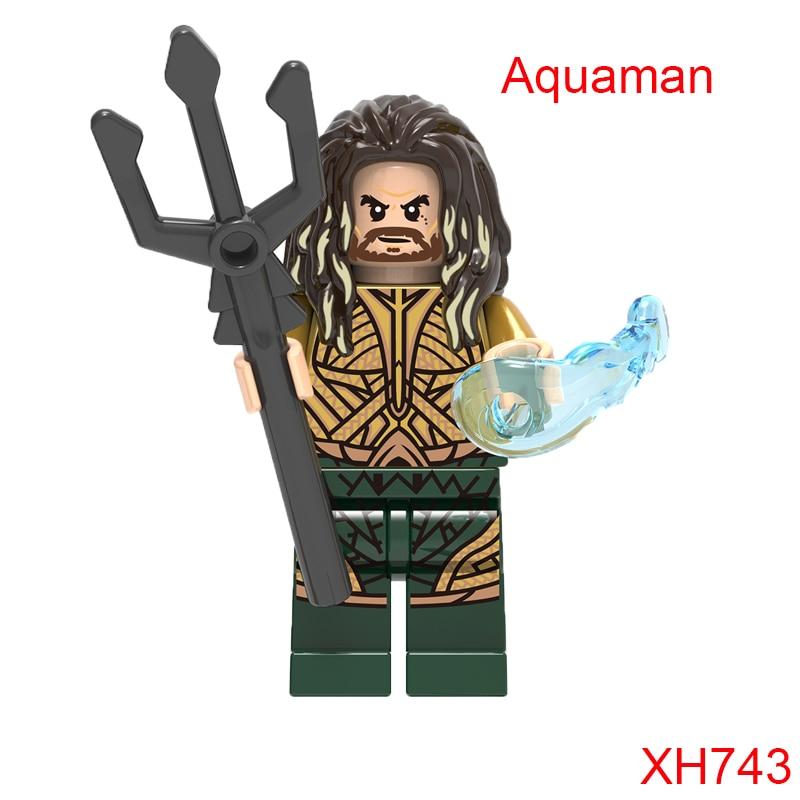 Aquaman Mini Bricks Single Sale Dc Super Heroes The Avengers Justice League Star Wars Building Blocks Kids Gift Toys Xh743