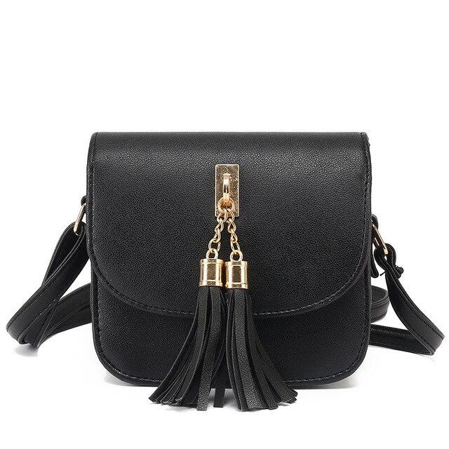 ba494c5d1b56d0 Mode 2017 Kleine Ketten Tasche Frauen Candy Farbe Quaste Messenger Bags  Weiblichen Handtasche Umhängetasche Klappe Frauen