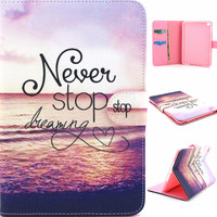 Dreaming Luxury PU Leather Stand Wallet Case Tablet Back Cover For Apple IPad Air 2 IPad