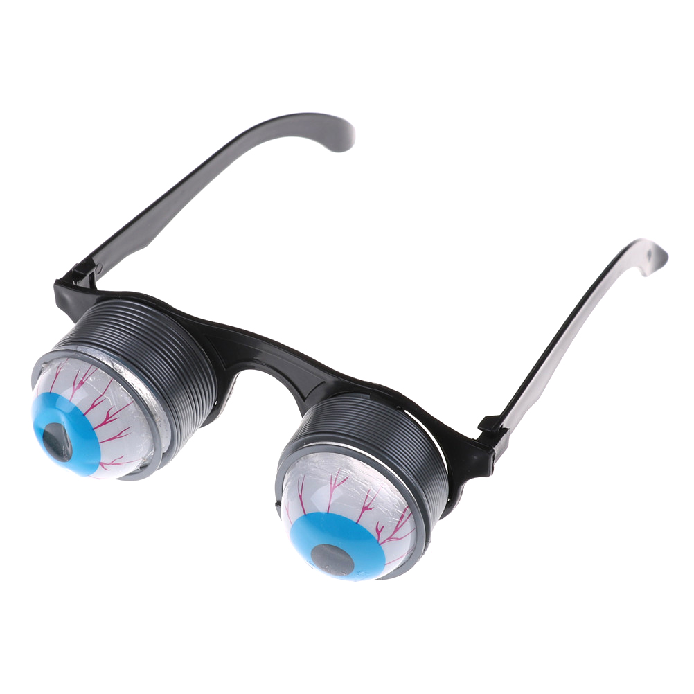 1Pc Plasti Eye Ball Glasses Gag Toy For Making Jokes For Kids Toy