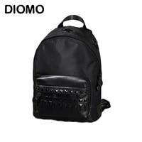 DIOMO punk rock rivet backpacks for girls waterproof daily women backpack school bags for teenagers mochila