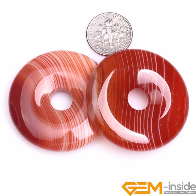 30 35 40mm mm mm Rosquinhas Anéis Red Sardônica Natural Onyx Ágatas Contas de Pedra Para Fazer Jóias Vertente 15 polegada Atacado