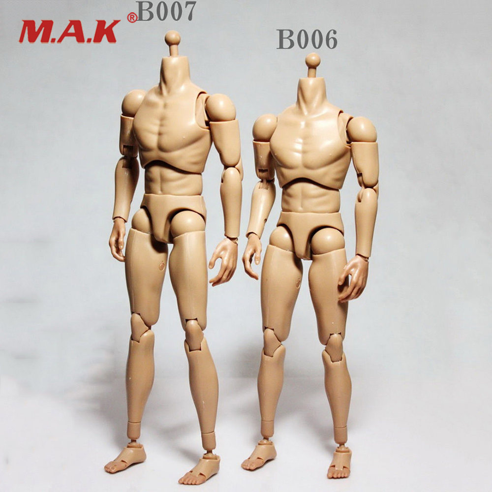 1:6 Scale B006/B007 Military Male Narrow Shoulders Nude Body Skin Color For 12 inches Action Figure Accessories