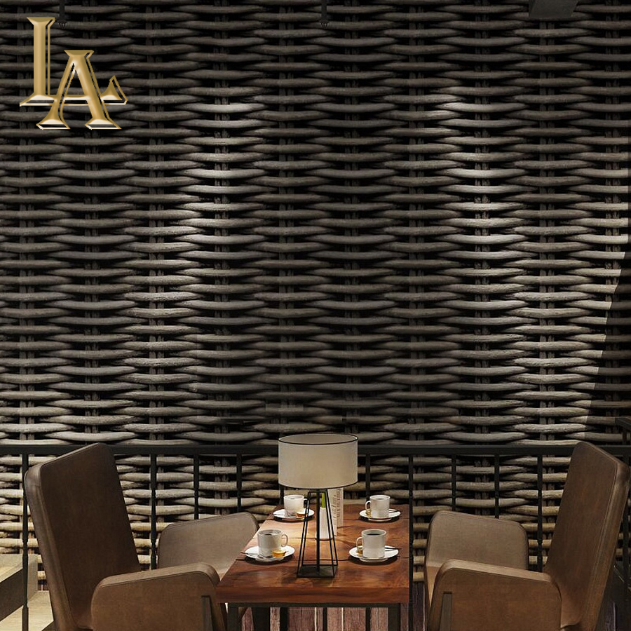 Chinese Classic Vintage Straw 3D Wallpaper For Walls Decor PVC Wall Paper Rolls For Bedroom Study TV Room Restaurant quality waterproof personalized antique chinese style houses vintage 3d bricks wallpaper rolls for bedroom 3d stone wall paper