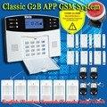 Envío Libre! Wireless APP SIM GSM Teclado LCD Del Sistema de Alarma GSM Ladrón del Hogar de Seguridad Sensor kit Spansih Inglés Ruso voz