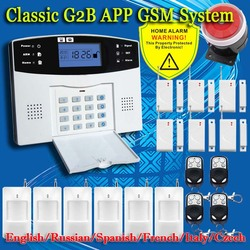 Free shipping english russian spanish french voice wireless gsm alarm system home security alarm systems lcd.jpg 250x250