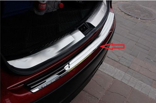 Rear Bumper Protector sill plate cover for nissan QASHQAI Dualis 2007 2008 2009 rear bumper sill plate guards cover for renault koleos 2008 2009 2010 2011 2012