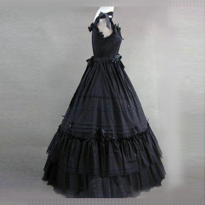 2018 Partie Robes Pour Qualité Femmes Robe Gothique Les Victorienne Coton Siècle 18th Haute Bal Noir Princesse antoinette Marie De 5xgYOqSYw