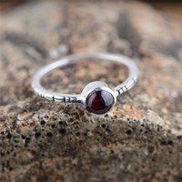 BESTLYBUY 100 Real 925 Sterling Silver Jewelry Red Tourmaline Elegant Ring Women Party Wedding Gift Delicate