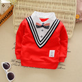 Boys Spring and Autumn 2016 new long-sleeved T-shirt Baby clothing T-Shirt Navy collar shirt