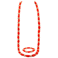 Luxury Coral Jewelry Set for Men African Wedding Coral Beads Brides Gift Dubai Gold Women Costume Jewellery Set RCBS24