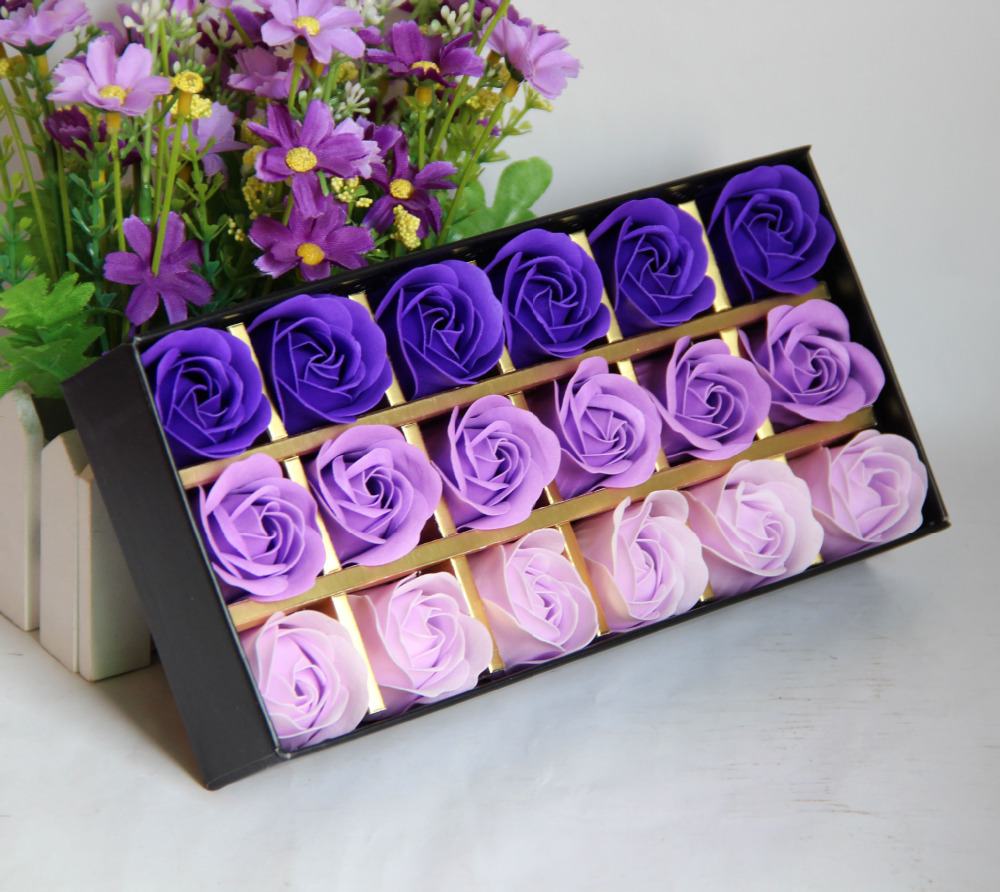 10 Scented Home Gift Ideas All Priced 10 And Under: 18 Pcs Rose Gift Box Birthday Gift Rose Soap Gift Box