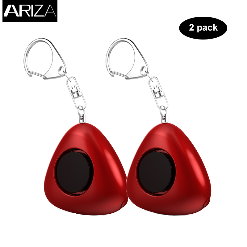 Ariza 2pcs self defense personal alarm panic alarm emergency anti-rape anti-lost alarm keychain for women elderly kids 2016 2pcs a lot self defense supplies alarm personal key ring protection alarm alert attack panic safety security rape alarm