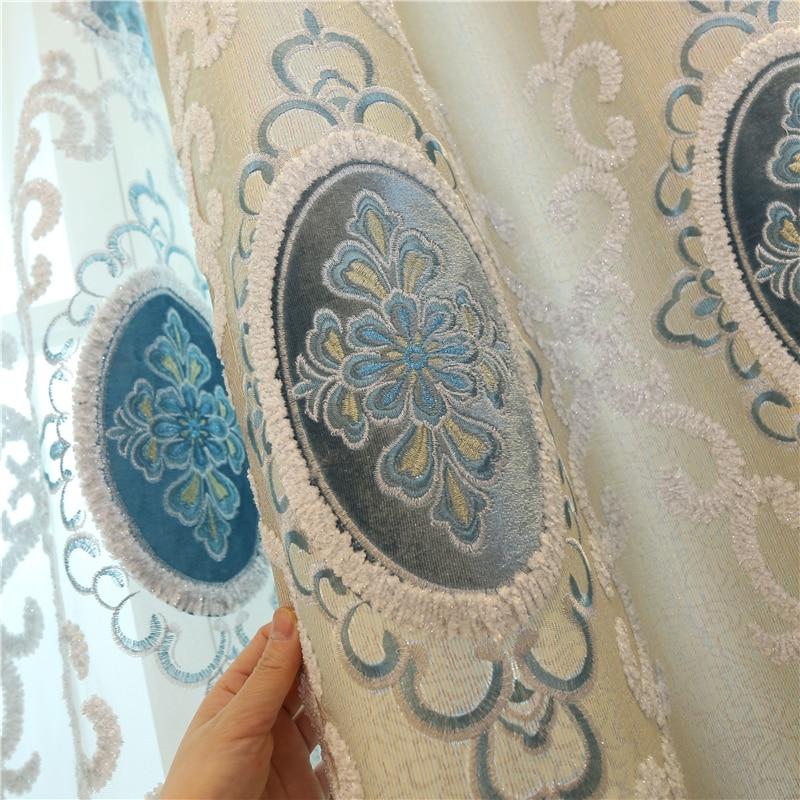 Europa na zamówienie luksusowe hafty Zasłony zaciemniające do - Tekstylia do domu - Zdjęcie 3