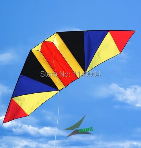 Envío de la alta calidad 5 unids/lote 3 m rainbow planeador juguetes voladores kitesurf hcxkite weifang cometa con la línea de mango al aire libre fábrica