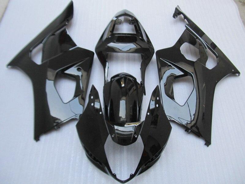 射出成形金型のフェアリングキット用スズキgsxr1000 k3 03 04 gsxr 1000 2003 2004 gsxr1000すべてグロスブラックフェアリングセット+ 7贈り物sg02  グループ上の 自動車 &バイク からの カバー & オーナメント作り の中 1
