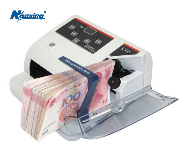 Mini Money detector with UV MG WM bill counter for most Currency Note Bill Cash Counting Machine EU-V10 Financial Equipment fake money detector ir detection eu 8070 suitable for multi currency financial equipment wholesale