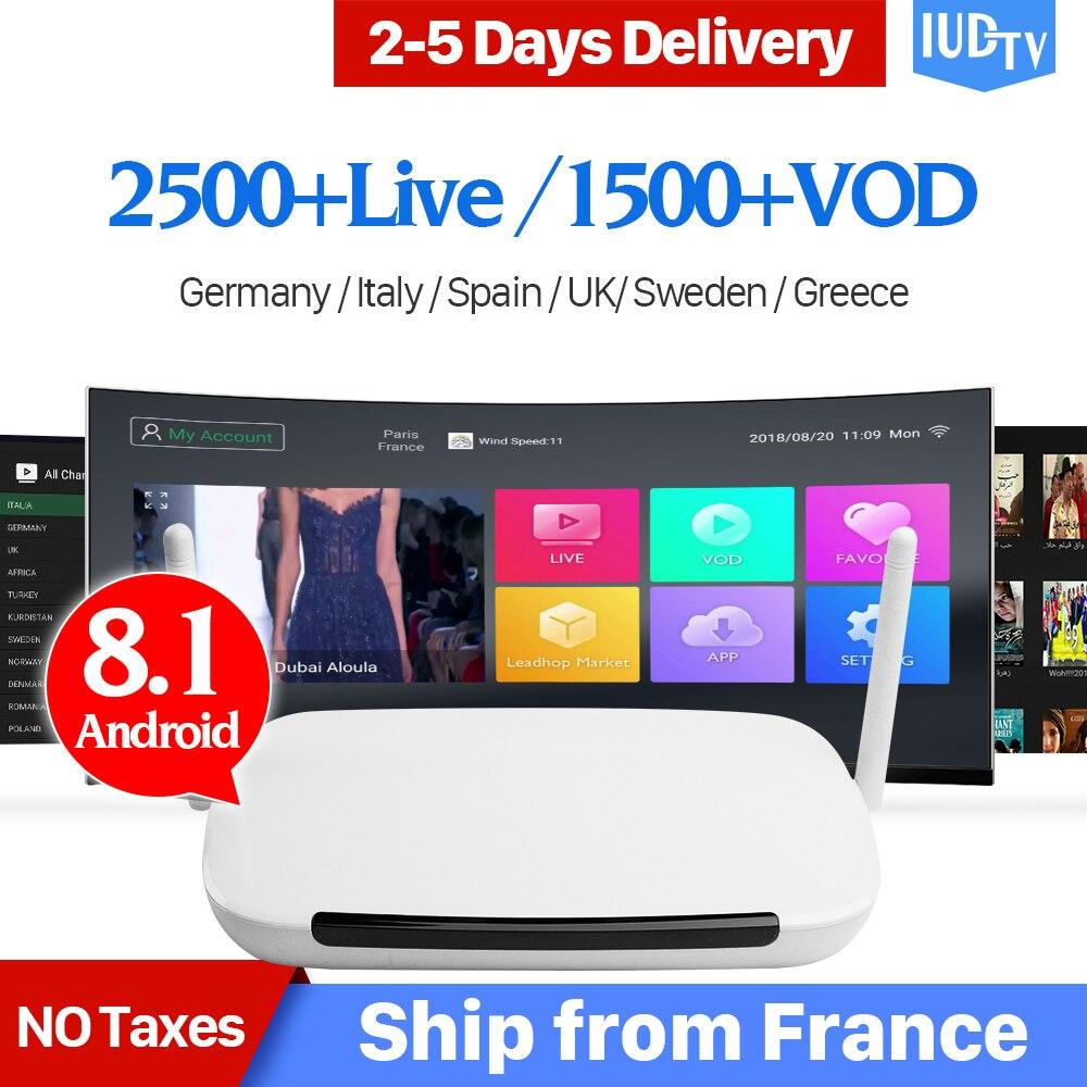 IPTV suédois Box Android 8.1 IPTV abonnement 1 an Code Q9 TV récepteurs IPTV suède espagnol italie allemagne royaume-uni Portugal IP TV