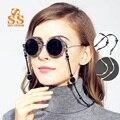 SUNSTONE Fashion Brand White or Black Imitation Pearl Design Glasses Chain Women Eyewear Cord Reading Glass Neck Strap G121