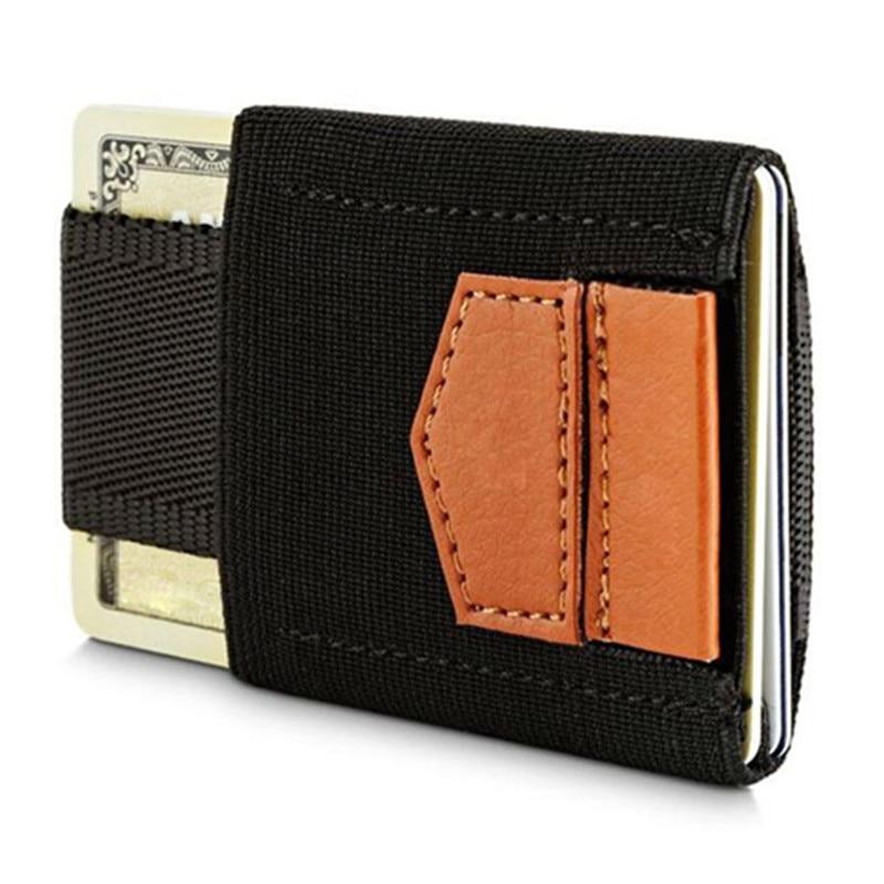 Slim Credit ID Card Holder Elastic Magic Minimalist Wallet Card Holders Mini Case Coins Purse for Men Women Porte Carte hand jet printer price