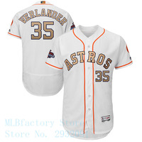 Men S Houston Astros Justin Verlander Majestic White 2018 Gold Program Flex Base Player Jersey