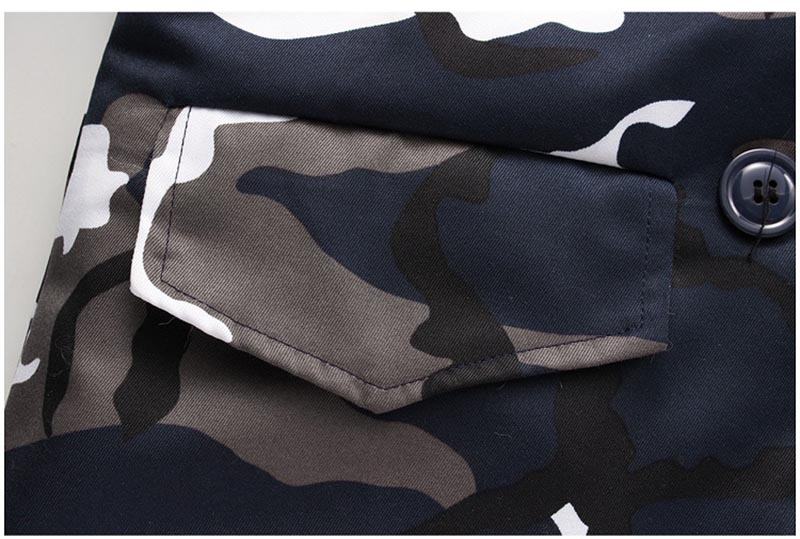 New Winter Men\`s Camouflage Jacket and Coats With Fur Hood Warm Thick Parka Fashion Designer Male Outwear Coats (2)