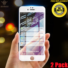 [2 Pack] Protective Tempered Glass For iPhone 7 glass 6 6s 8 Plus X Screen Protector Full Cover Curved Edge