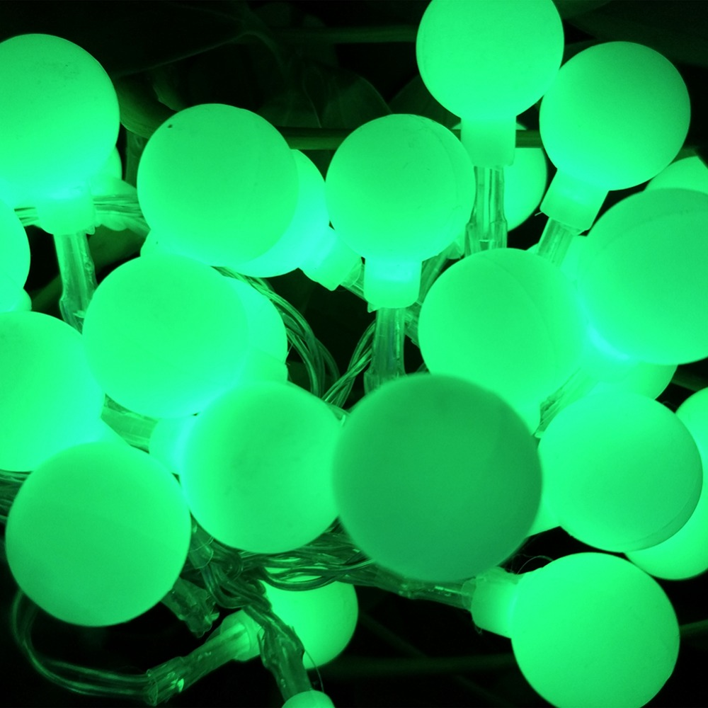 YIYNAG NEW 4M 40 LED Colorful Ball String Lights AA Battery Operated Fairy Party Wedding Christmas Flashing LED Home Decoration
