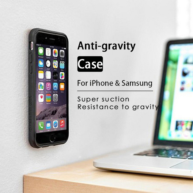 KISSCASE Anti Gravity Case For iPhone X 8 7 6 6S Plus 5S Adsorbable Cover For Samsung Galaxy S6 S7 Edge S5 S8 S9 Plus Note 8 P9