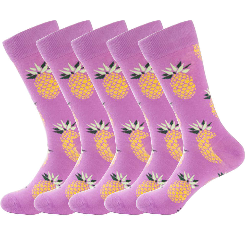 MEI LEI YA 1 пара Harajuku хлопчатобумажные мужские носки осень-зима фруктовые Носки с рисунком решетки мужские и мужские длинные носки HS-70