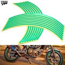 17/18inch wheel Strips Motorcycle Reflective Wheel Sticke for NINJA 650R/ER6F/ER6N 400R ZX636R/ZX6RR 250R 300