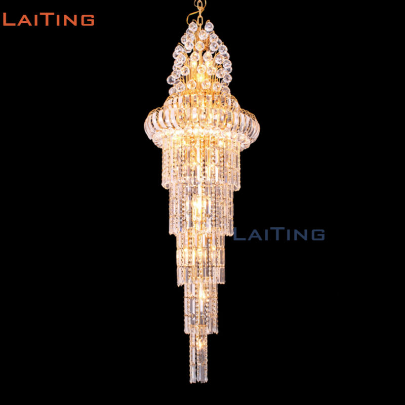 BY DHL 2016 Arab Style Villatic Gold Luxury Four Layer Crystal Hanging Lamps for Staircase promoting social change in the arab gulf