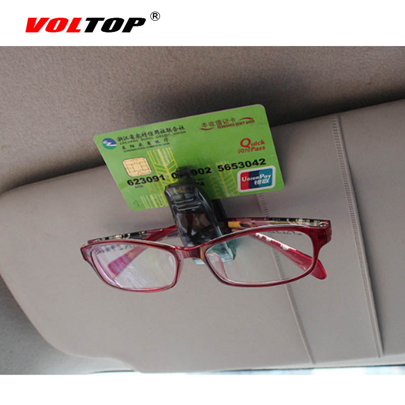 VOLTOP Carro Óculos de Sol Viseira Clipe Bordo Sol shading Pasta Bilhete  Titular Multifunções Mini Note Paper Óculos De Sol Óculos Clipe em Auto  Fastener ... 3aac3c047a